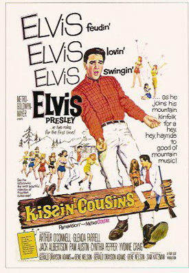 Elvis Presley in Kissin Cousins poster