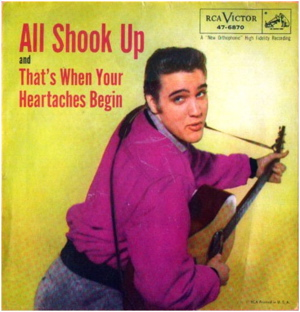 Elvis Presley All Shook Up sleeve