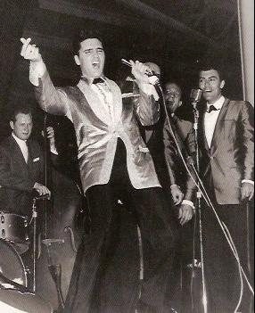 Elvis Presley on stage in Hawaii 1961