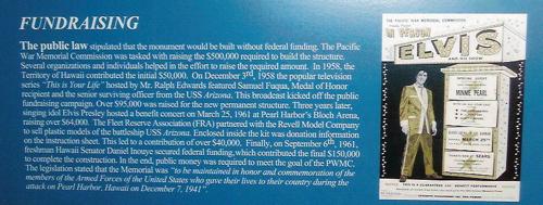 Elvis Presley Arizona Memorial plaque