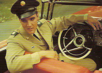 Elvis Presley army photo