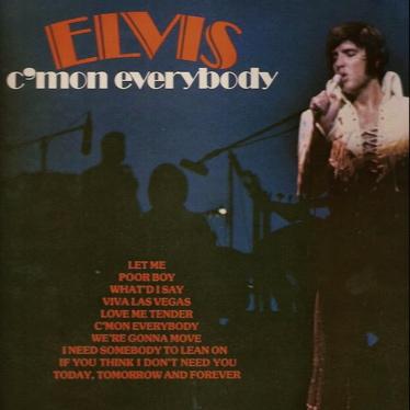 Elvis Presley Australian LP Cover