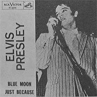 Elvis Presley Blue Moon picture sleeve