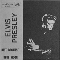 Elvis Presley Blue Moon picture sleeve