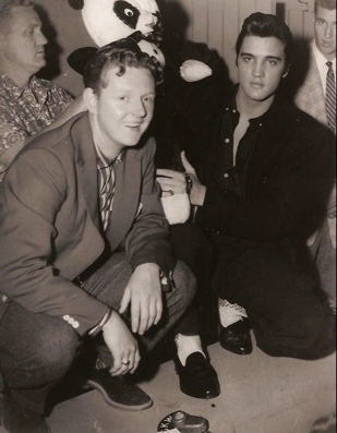 Elvis Presley and Red Robinson