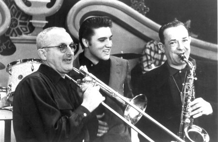 Elvis Presley with Tommy and Jimmy Dorsey