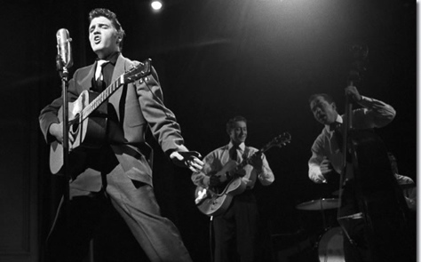 Elvis Presley on Stage Show 1956