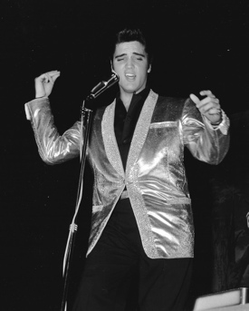 Elvis Presley on stage 1956