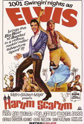 Elvis Presley in Harum Scarum poster