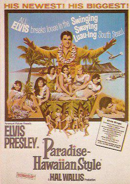 Elvis Presley Paradise Hawaiian Style poster