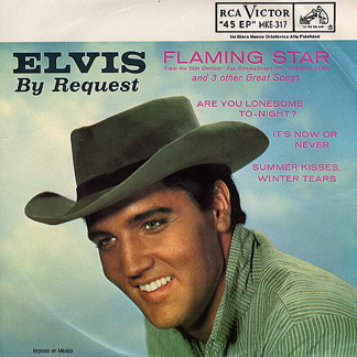Elvis Presley Flaming Star EP cover