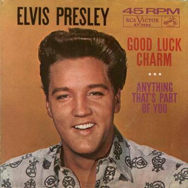 Elvis Presley Good Luck Charm sleeve