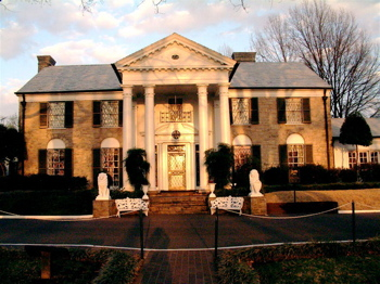 Graceland, Elvis Presley's home, front view
