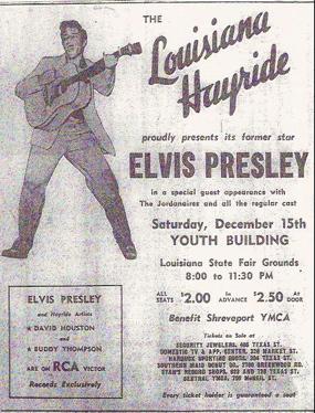 Elvis Presley Louisiana Hayride Ad