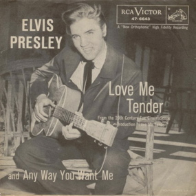 Elvis Presley Love Me Tender sleeve