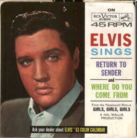 Elvis Presley Return to Sender picture sleeve