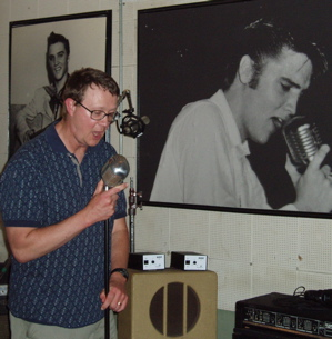 Alan Hanson at Sun Studio Memphis