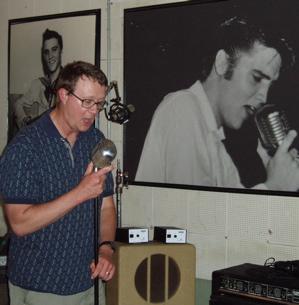Alan Hanson at Sun Studio Memphis