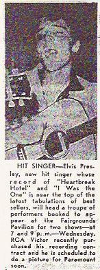 Elvis Presley Tulsa 1956 Ad