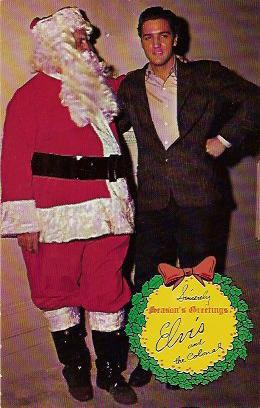 Elvis Presley Christmas postcard