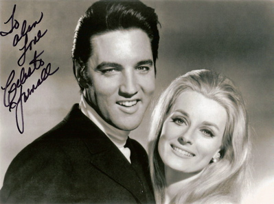 Elvis Presley and Celeste Yarnall